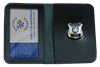 Smaller Badges with leather folder